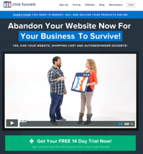 FREE 14 Day Trial of ClickFunnels Software