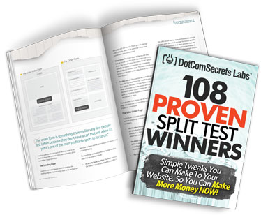 Excellent Digital Marketing Guide called 108 Proven Split Test Winners